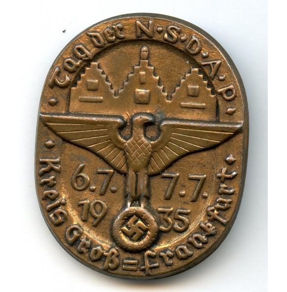 "Tinnie ""Tag der NSDAP, kreis Gross-Frankfurt 1935"""