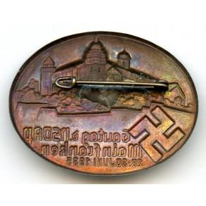 """Tinnie """"Gautag d. NSDAP Mainfranken, 28-30 Juni 1935"""""""