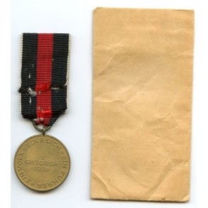 Czech annexation medal + package by R. Bergs