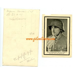Italy SNIPER KIA 1944, portrait and death card, sniper patch!!