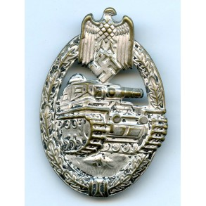 Panzer assault badge badge in silver by O. Schickle