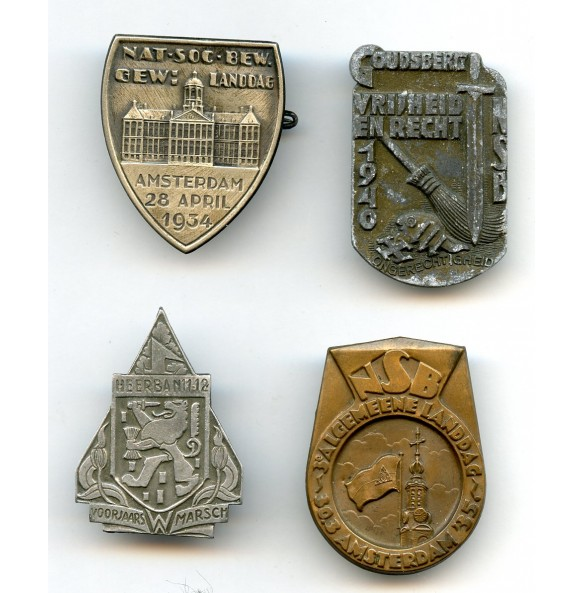 Lot Dutch collaboration pins / NSB badges