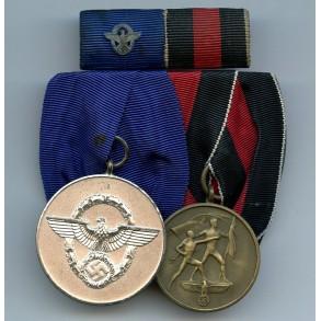 2 place police medal bar + ribbon bar