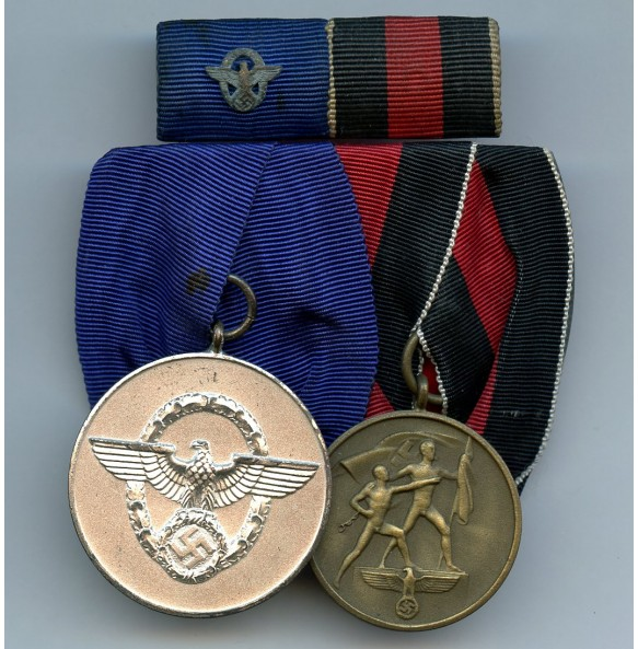 2 place police medal bar + ribbon bar