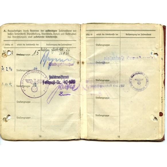 Soldbuch to H. Schmidt, Pz. Art Reg. 74, WIA Normandy 1944, EK2