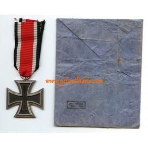 "Iron cross 2nd class by F. Reischauer ""132"" + Reischauer package!"