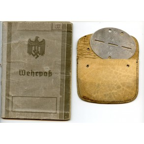 Wehrpass to M. Weihsflach, GJR 98, Anti partisan actions Balkan, EK1, close combat clasp,...