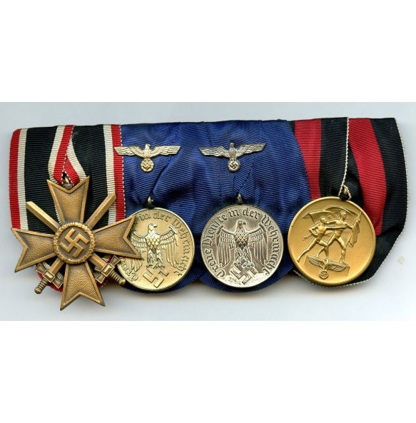 4 place army medal bar