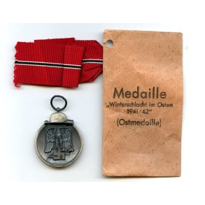 "East front medal by R. Simm & Sohne ""93"" + package"