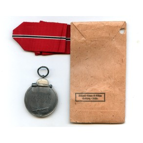 """East front medal by R. Simm & Sohne """"93"""" + package"""