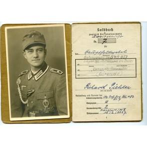 Soldbuch to Hauptfeldwebel R. Piehler, Sturmbataillon AOK 19, EK2, EK1 + portrait!