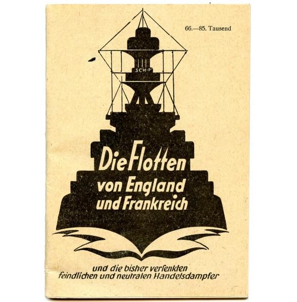 """Booklet """"Die Flotten von England und Frankreich"""" 1940"""