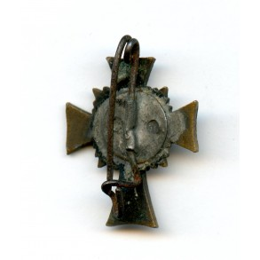 Mother Cross in Bronze miniature modified to broach