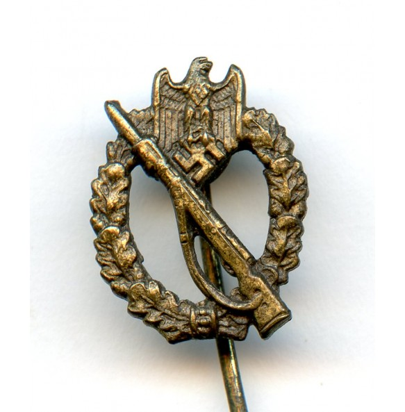 Infantry assault badge in bronze 16mm miniature