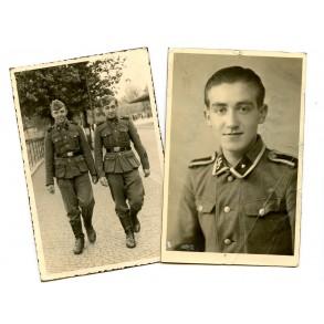 Portrait and private photo SS NCO/Oberschütze