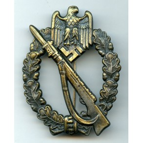 "Infantry Assault Badge in Bronze by J. Feix ""JFS"""