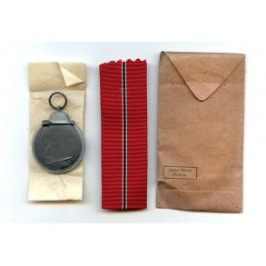 East front medal by J. Maurer, Oberstein + package
