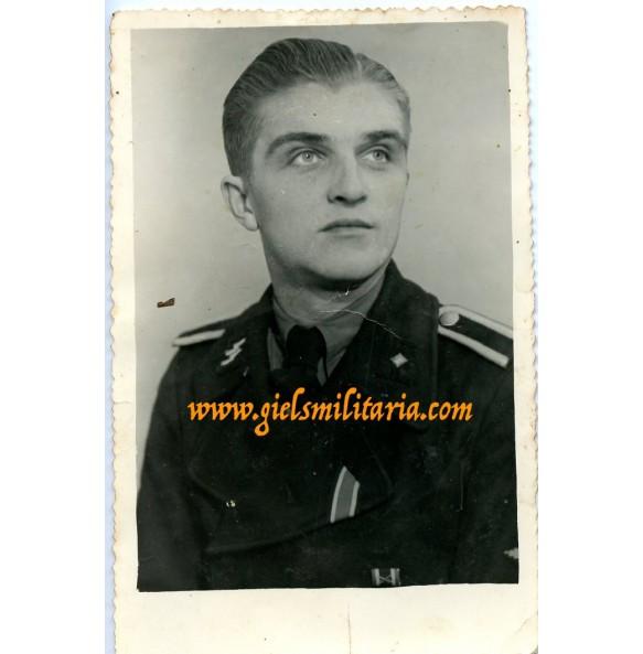 SS portrait photo black panzer wrapper, EK2 + KVK2, 1944