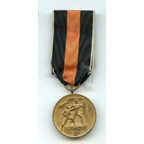 1938 Czech annexation medal