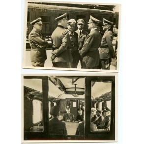 2 period postcards surrender of France in Compiègne 1940