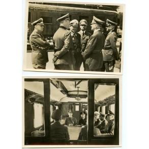 2 period postcards surrender of France in Compiègne 1940