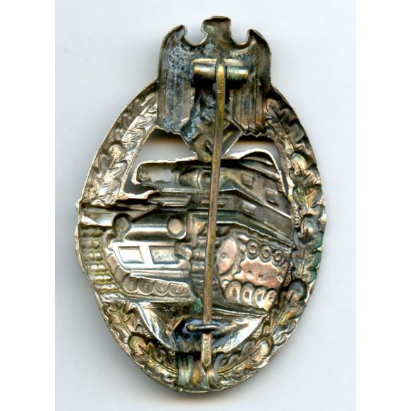 Panzer assault badge in silver by Schauerte & Höhfeld
