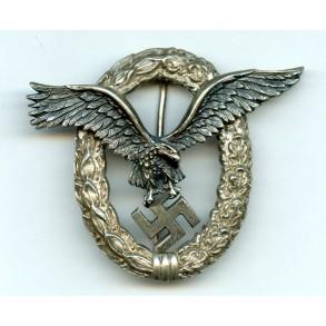 """Luftwaffe pilot badge by C.E. Juncker """"J2"""