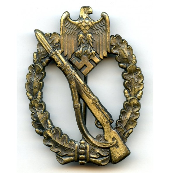 Infantry assault badge in bronze by W. Deumer