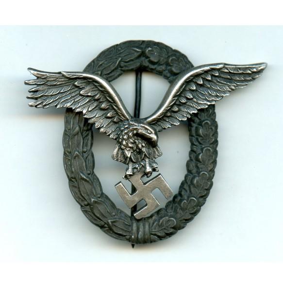 """Luftwaffe pilot badge by C.E. Juncker """"J4"""""""