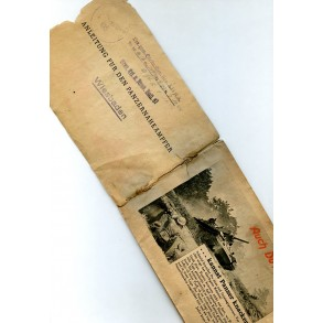 Panzerknacker manual with unit stamp!
