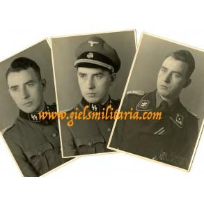 3 SS panzer officer portraits