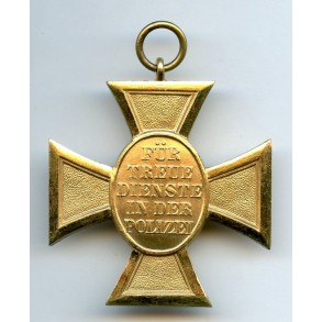 Police 25 year service medal