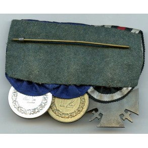 3 place medal bar with 4 and 12 year army service