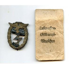 Luftwaffe ground assault badge by A. Wallpach + package