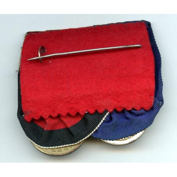 Medal bar Luftwaffe 4 year service, Czech annexation medal + Prague bar