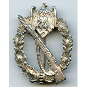 """Infantry assault badge in silver by C. Wild """"CW"""""""