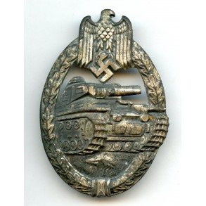 Panzer assault badge in silver by P. Meybauer, 1st pattern