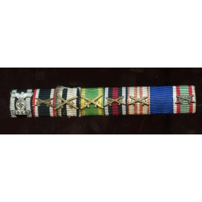 8 place medal bar with iron cross clasp 2nd class.