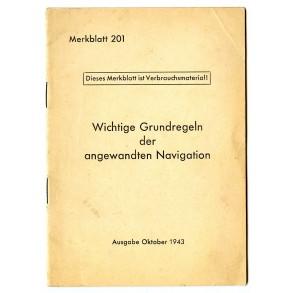 Luftwaffe Merkblatt 201: ground rules for navigation, Oct. 1943