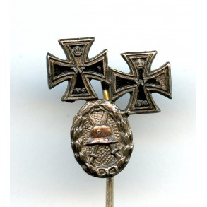 "WW1 EK1 + EK2 + wound badge ""800"" silver combination"