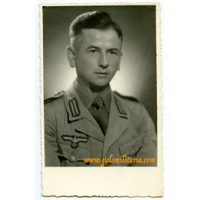 Portrait photo tropical uniform Greece sept. 1944, eagle defect