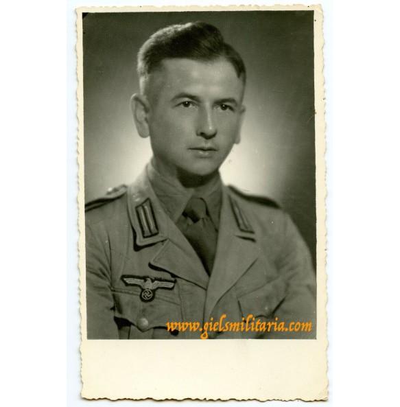 Portrait photo tropical uniform Greece sept. 1944, eagle defect