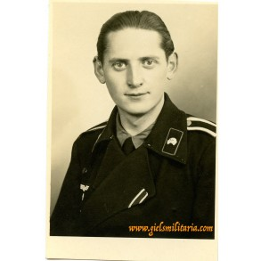 Portrait photo panzer NCO with EK2