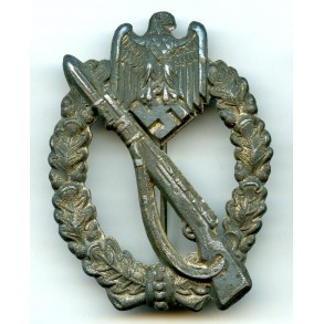 "Infantry assault badge in silver ""small H"""