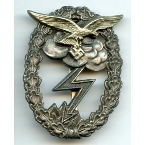 """Luftwaffe ground assault badge by C.E. Juncker """"wide pin"""""""