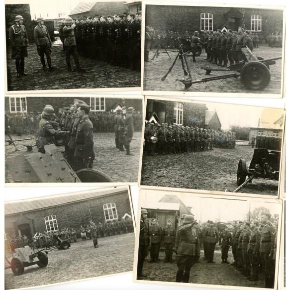 Photo lot wehrmacht award ceremony