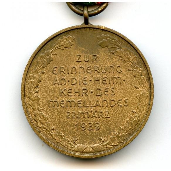 "Memel annexation medal ""slanted G"" by Hauptmünzamt Berlin"