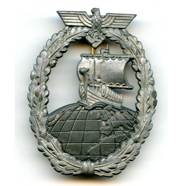 Kriegsmarine auxiliary cruiser badge by A. Rettemaier