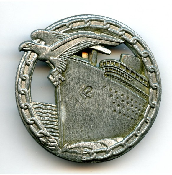 "Kriegsmarine blockade runner badge by B.H. Mayer ""26"""