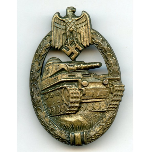 Panzer assault badge in bronze by Steinhauer & Lück
